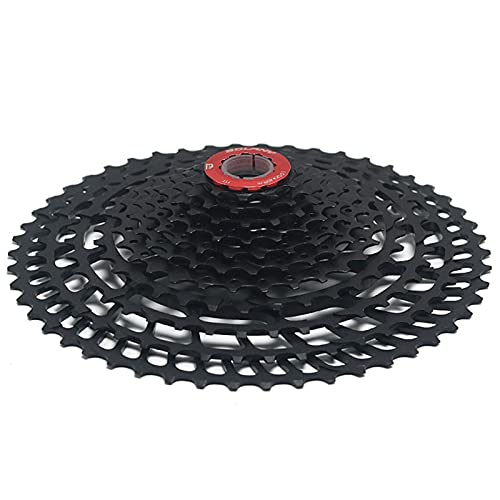 SLTYLV Rueda Libre de Cassette de Bicicleta 11-50 / 52T índice de Velocidad 10/11/12, piñón de Rueda Libre de Pieza de Bicicleta Negra MTB, Adecuado para Rueda de sensación de Bicicleta XD/Cassette
