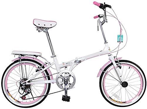 DX Renn - Bicicleta de montaña juvenil, velocidad plegable, para hombres y mujeres, estudiantes, deporte y ocio, 7 velocidades, 20 pulgadas