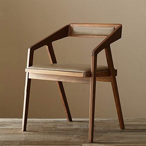 CNRGHS Hochwertige Massivholz Esstisch und Stuhl - Mode im chinesischen Stil Sessel Café Bar Hotelmöbel Kissen Rückenlehne Freizeit Schreibtisch Buch Stuhl