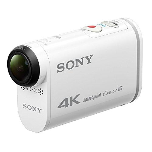 Sony FDR-X1000 4K Action Cam (4K Modus 100/60Mbps, Full HD Modus 50Mbps, ZEISS Tessar Objektiv mit 170 Ultra-Weitwinkel, Vollständige Sensorauslesung ohne Pixel Binning, Zeitlupenaufnahmen) weiß