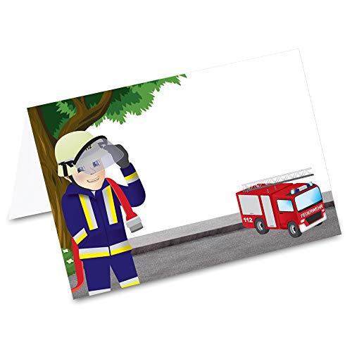 Pricaro Tafelkaarten, brandweerman, 50 stuks