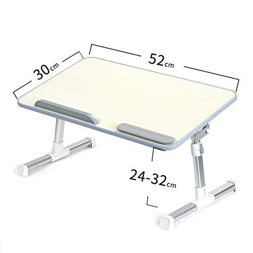 Ljyao Laptopbureau, verstelbaar in hoogte en hoek, multifunctioneel, voor thuis, educatief tafel, eenvoudig bureau, inklapbaar