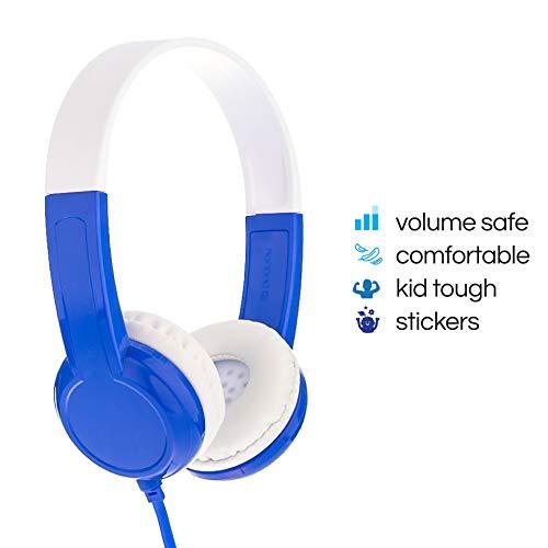 ONANOFF Boeddyphones Discover Volume Limiting Kids koptelefoon | duurzaam, comfortabel, aanpasbaar | blauw
