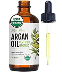USDA CERTIFIED ORGANIC MOROCCAN ARGAN OIL - Kate Blanc's Virgin Cold Pressed Argan Oil of Morocco is certified by USDA and is guaranteed to be authentic, pure, natural, unrefined, and hexane free. This is the LIGHT version where the scent is lighter ...