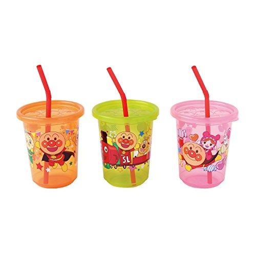 レック アンパンマン ストローカップ 3個入 パート2 (3色別柄)
