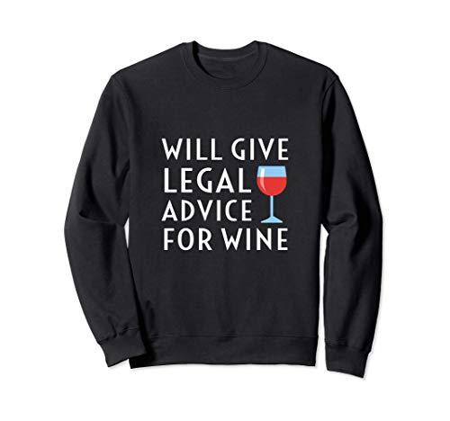Dará Asesoramiento Legal Para Wine Funny Abogado Juez Sudadera