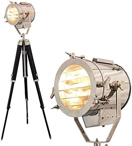 Lámpara de pie de trípode de estudio vintage para decoración del hogar y la oficina