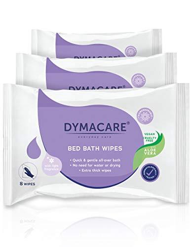 DYMACARE Feuchte Hautreinigungstücher Parfümiert | Große, Weiche Feuchtreinigungstücher Für Die Ganzkörperwaschung | Mit Pflegender Aloe Vera | Klinikqualität ! (3 Packungen)