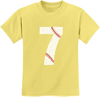 Tstars - 7th Birthday Gift for Seven Year Old Baseball Fan Youth Kids T-Shirt