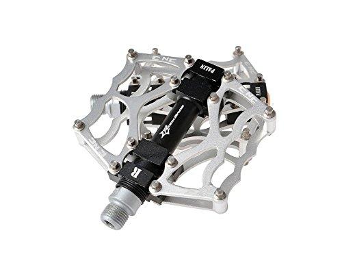 Rock Bros in Alluminio Cuscinetto Pedali per Bici MTB BMX Bike Bicycle Montagna Plat Form 9/16 CS6, Oro