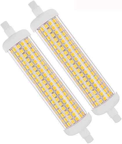 Bombilla R7S LED Regulable de 118 mm,10W Lámparas Halógenas de 100W Equivalentes,Blanco Frío 6000K AC 230V 1000LM,Doble Extremo J118 Lineal Bombillas,360 Grados,para Luces de Paisaje(2 paquetes)