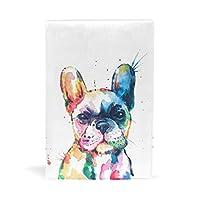 SoreSore(ソレソレ) ブックカバー a5 水彩 可愛い かわいい いぬ 犬柄 ホワイト 皮革 レザー 文庫本 ノートカバー メモ 手帳カバー 革 A5 かわいい おしゃれ