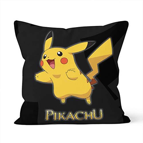Funda de cojín con diseño de Pikachu para el hogar, dormitorio, cojín decorativo, tamaño 45 x 45 cm