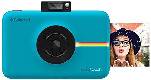 Polaroid Snap Touch - Cámara digital con impresión instantánea y pantalla LCD con tecnología Zero Zink, azul