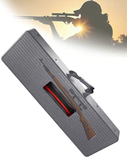 TBDLG Estuche para Pistola de Francotirador, Estuche para Arma Táctico Portátil y Liviano, Bolsa de Algodón Resistente y Duradera con Protección, Equipo de Energía Nuclear, 105 * 34 * 12.5cm,Gris