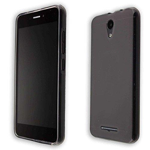 caseroxx TPU-Hülle für Archos 50f Neon, Handy Hülle Tasche (TPU-Hülle in schwarz-transparent)