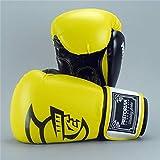 Guantes De Boxeo 10oz 12oz 14oz Espuma De Poliuretano For Adultos For Niños Kick Kickboxing Entrenamiento del Boxeo MMA Pretorian Guante Guantes De Muay Thai Zzib