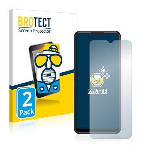 BROTECT 2X Entspiegelungs-Schutzfolie kompatibel mit Alcatel 3X 2019 Bildschirmschutz-Folie Matt, Anti-Reflex, Anti-Fingerprint