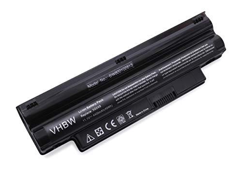 Batterie LI-ION 4400mAh 11.1V, Noir, pour Dell Inspiron Mini iM1012-Serie, 1012-Serie, 1018-Serie remplace T96F2, CMP3D, 3K4T8, NJ644 etc.