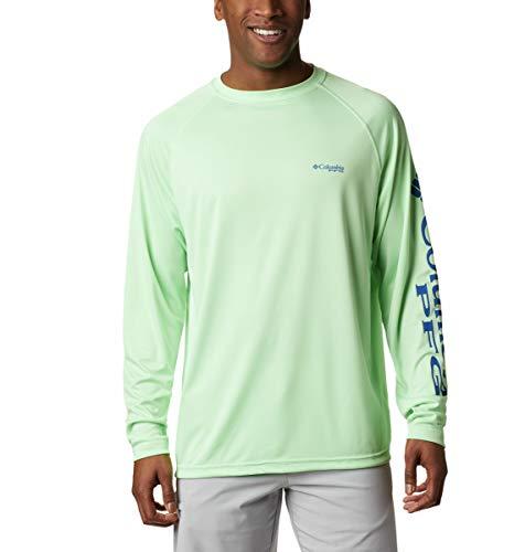 Columbia Men's PFG Terminal Tackle Long Sleeve Tee , Key West/Vivid Blue Logo, Medium