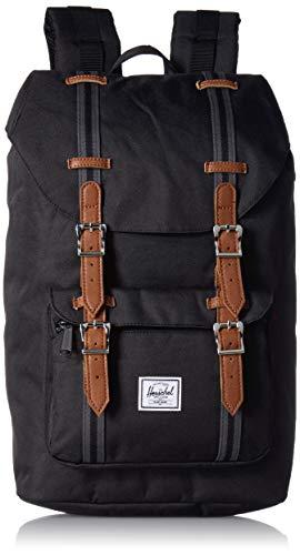 Herschel Little America Mid Volume Unisex Adult Bag, Black/Black/Tan (Black) -...