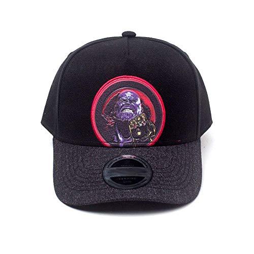 Bioworld Marvel Comics Avengers Infinity War Thanos Patch Curved Bill Cap Gorra...