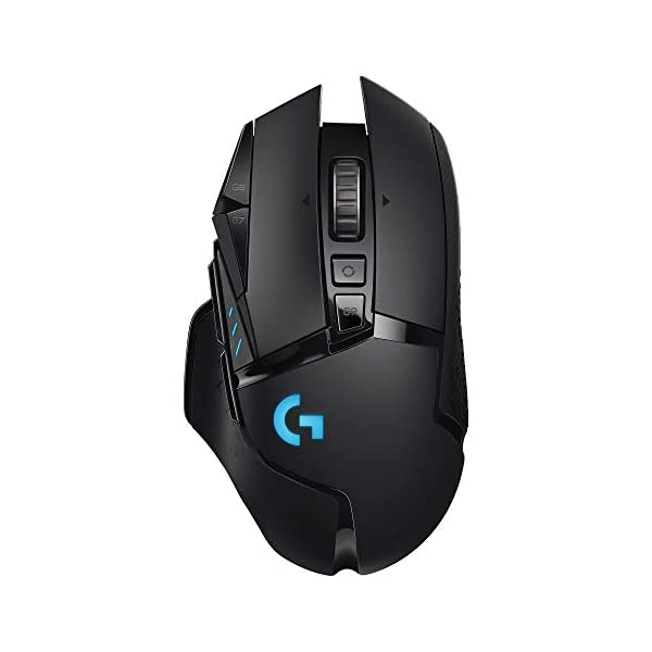 Logitech G502 LIGHTSPEED Wireless Gaming Mouse with HERO 16K Sensor, PowerPlay Compatible,...
