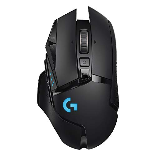 Logitech g502 lightspeed wireless gaming mouse with hero 16k sensor, powerplay compatible, tunable weights and lightsync rgb - black