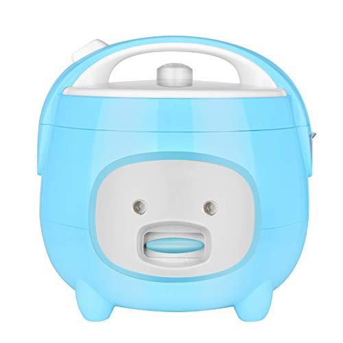 Cuiseur à riz avec vapeur,Mini autocuiseurs électriques à la maison,Pot intérieur antiadhésif,Fonction de maintien au chaud,Petits appareils dortoirs adaptés à 4~6 personnes (4L/700W/220V),Bleu