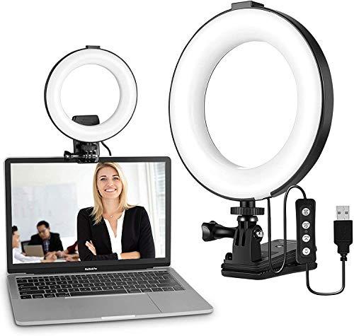 Video Konferenz-Beleuchtungsset, Videokonferenz Beleuchtung Licht, Zoom Licht, LED Licht für Monitor Fernarbeit Fernunterricht Zoom-Anrufbeleuchtung Selbstübertragung Live-Streaming Computer Laptop
