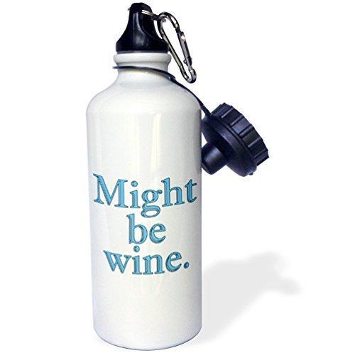 Cukudy Water Fles Cadeau, Zou Wijn Blauw Wit Roestvrij Staal Water Fles voor Vrouwen Mannen 21oz