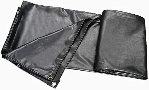 WJGJ Tarpaulin tarp Sheet Furniture Caravan Cover Tarpaulin Rainproof Waterproof Sunscreen Tarpaulin Black Pvc Coated Tarpaulin 450/㎡ (Size : 2x1.5m) (Size : 4x8M)