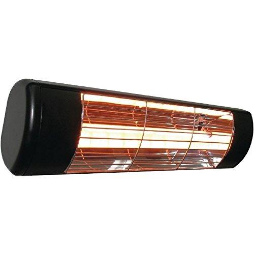 Heatlight Black Patio Heater 120x480x120mm 1500W Infrared Outdoor Restaurant