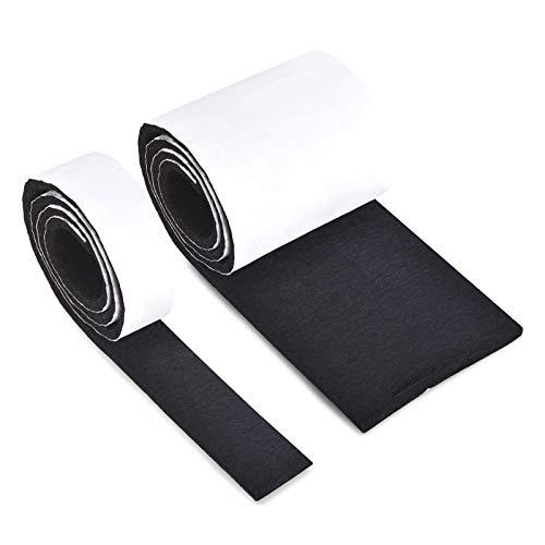 Filzgleiter Selbstklebend,Filz Selbstklebende Schwarz 2 Rollen Stark Filzstreifen(100 * 10cm+100 * 2cm*5mm) für Stühle,Möbelgleiter Bodenschutz Schneidbar Frei in Jede Form Stuhlgleiter Filzband