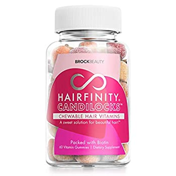 Hairfinity Candilocks Chewable Hair Vitamins - Gummies Scientifically formulated with Biotin Inositol and Choline for Longer Stronger Hair Growth  60 Vegetarian Gummies
