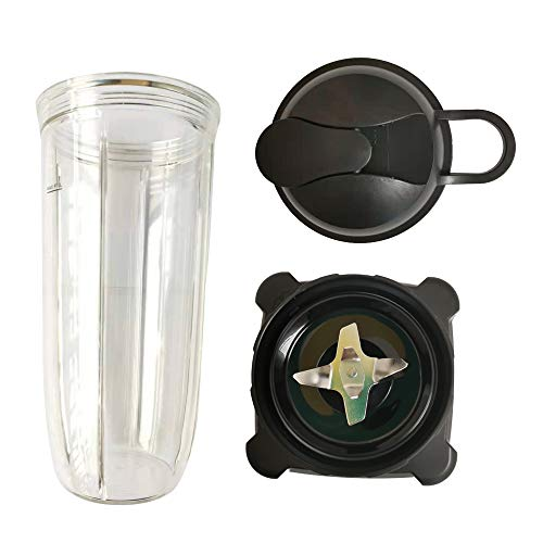 Sduck 32oz cup with lid and Blade Motor Base Ninja Replacement Parts for Ninja BL700 BL701 1200 NJ600 NJ602 NJ600WN BL701WM