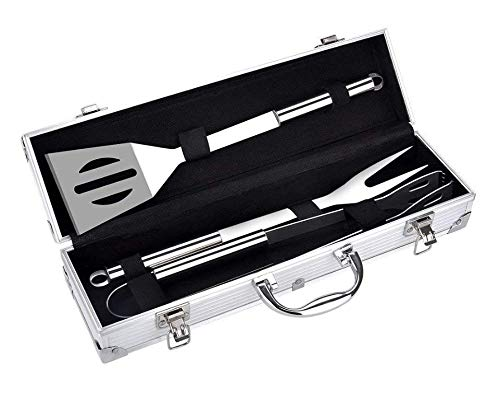 Find Discount ZENDY Barbecue Grill Tool Set (3pc)(5pc)(6pc) Heavy Duty Stainless Steel Utensils Men ...