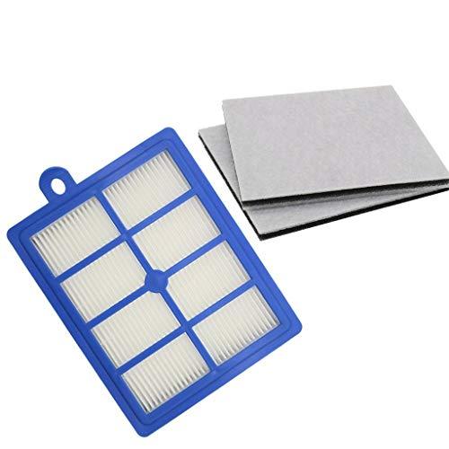 Accesorios de repuesto para aspiradoras Lavable 1PCS polvo de filtro de HEPA H12 H13 + 2PCS Motor filtro de algodón for Philips Electrolux AEG Aspirador piezas de repuesto filtro Conjunto de rendimien