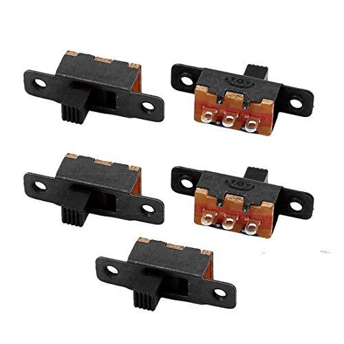 DealMux 5Pcs SS-12F16 2 Posição 3P SPDT Micro Miniatura Deslize interruptor de travamento Interruptor de Báscula