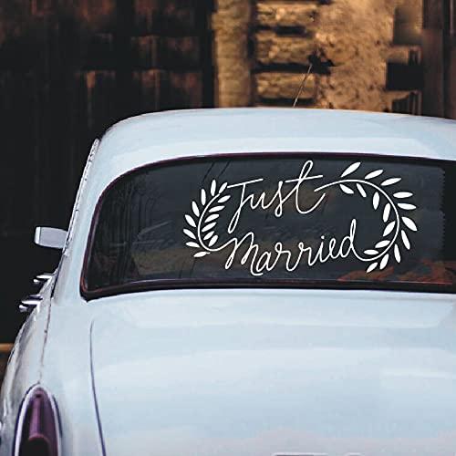 Pegatina de vinilo para ventana de coche de boda, calcomanía artística para...