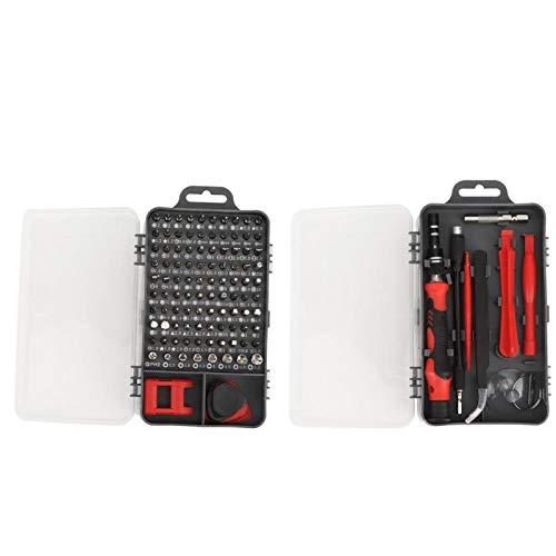 SALUTUYA Juego de Destornilladores multifuncionales Broca de Destornillador de precisión Durable 17 Piezas Accesorios de extracción, Herramienta de Mano de extracción de(Red)