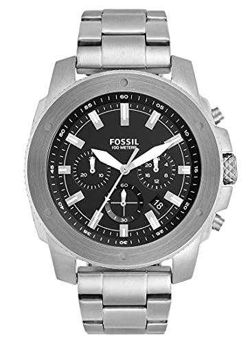Fossil Reloj Chronographe para Mens de Cuarzo con Correa en Acero Inoxidable FS5716