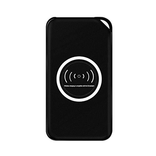 XUNMAIF ELE Chargeur sans Fil,Batterie Externe Power Bank Haute Capacité avec Indicateur Del,Compatible avec Les iPhone XR/XS/XS Max/X,Samsung S10/S10 +/S9 et Plus, Black