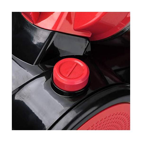 Hengda Aspiradora con dep/ósito sin bolsa Rojo volumen del contenedor de polvo: 3 litros Filtro de higiene lavable aspiradora de alto rendimiento Potencia m/áxima: 900 vatios