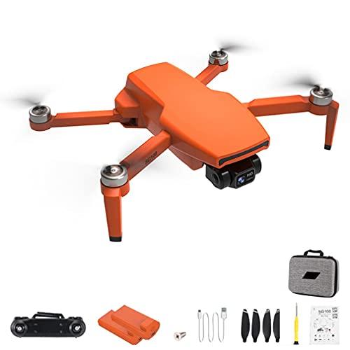 RHNE SG108 Pro 4K Drone 2-Axis Gimbal Cámara Profesional GPS 5G WiFi FPV Dron Sin escobillas Larga Distancia 1000m RC Quadcopter Naranja 2 * baterías