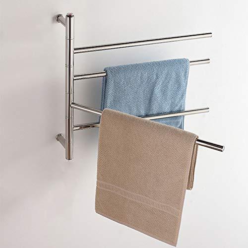 Lowest Price! 51W Energy-Saving Towel Warmer and Heated Towel Rail Radiator, Wall Mounted Towel Rack...