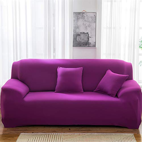 SUUZQK Copridivano Elasticizzato in Puro Colore per Il Rivestimento del Divano del Soggiorno di Casa Non Si Sbiadisce O Si Deforma, Asciugamano per Divano 3 Seater (190-230 cm)
