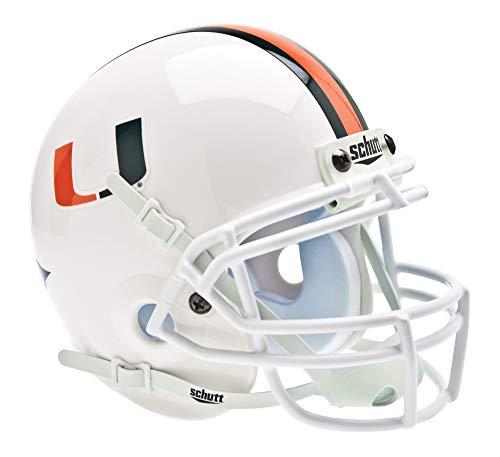 Schutt NCAA Miami Hurricanes Mini Authentic XP Football Helmet, Classic