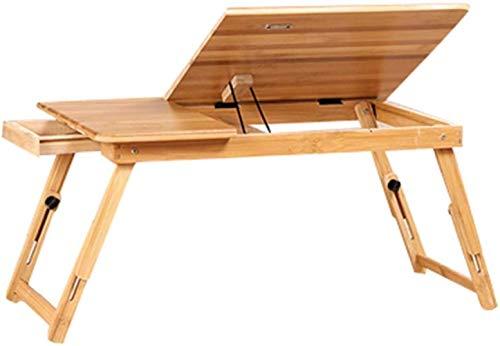 Solide kleine salontafel bamboe klaptafel inklapbare studiafel bed laptop tafel S/M glad