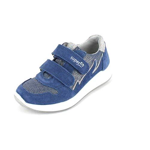 Superfit Mädchen Merida Sneaker, (Blau 80), 32 EU